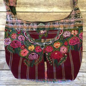 Beautiful Guatemalan boho embroidered purse